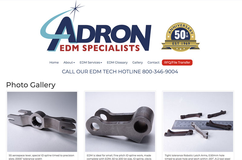 Click image to view Adron EDM Specialists, Inc. gallery.